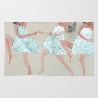 dancer Area & Throw Rugs featuring Dancer by Sara Stefanini