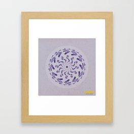 Third-Eye Chakra Mandala Framed Art Print