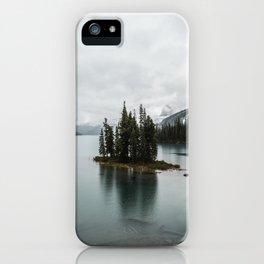 Landscape Maligne Lake Vertical View iPhone Case