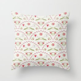 The mantis girl is hungry of love Throw Pillow