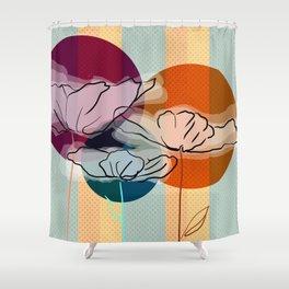 Poppy Poppy Poppy Shower Curtain