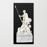 johnlock Canvas Prints featuring Sherlock+John - Statue of heavenliness by Clarice82