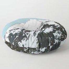 Turquoise Sky Mt. Baker Floor Pillow