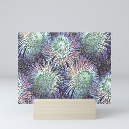 Artfully abstract blooming ice flowers Mini Art Print