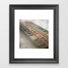 Water Color Paints Framed Art Print
