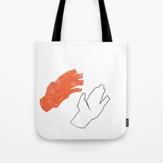 Two Hands Tote Bag