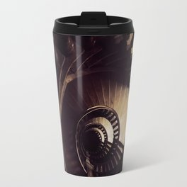 Ornamented spiral staircase in brown tones Travel Mug