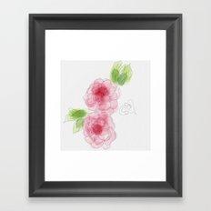 Twin Rose Framed Art Print