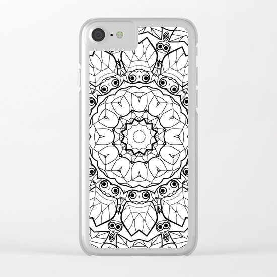 "Black and white pattern . ""Lola"" Notepad-cover-coloring . Clear iPhone Case"