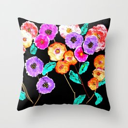 Bunches of Posies Throw Pillow