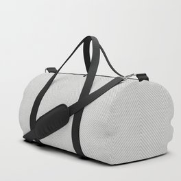 Stitch Weave Geometric Pattern in Grey Duffle Bag
