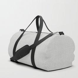 Stitch Weave Geometric Pattern in Grey Duffle Bag