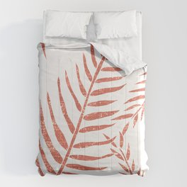 Terracotta Leaves - Terracotta Abstract Print - Modern, Minimal, Contemporary Abstract - Tropical Comforters