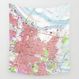 Vintage Map of Savannah Georgia (1955) 2 Wall Tapestry