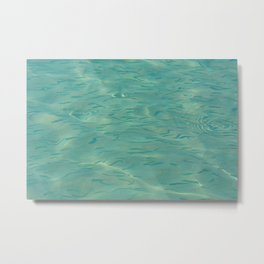 Swimming in the Clear Tropical Water Metal Print