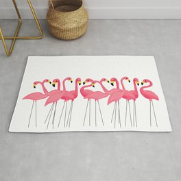 Cuban Pink Flamingos Rug