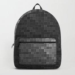Gray Ombre Pixels Backpack