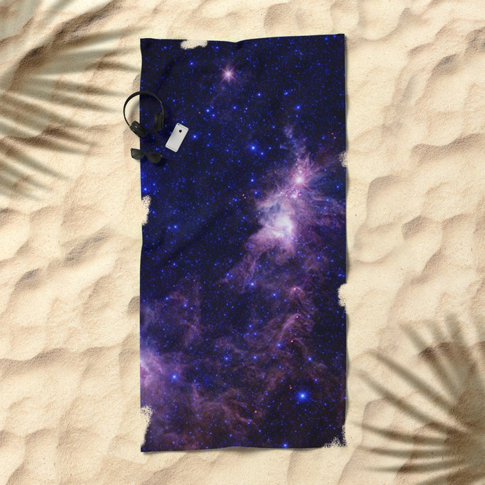 gAlAXY Purple Blue Beach Towel