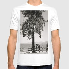 Hangin' out Mens Fitted Tee White MEDIUM