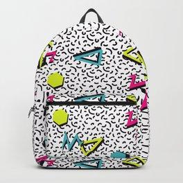 Funky 80s & 90s Memphis Pattern Design Backpack