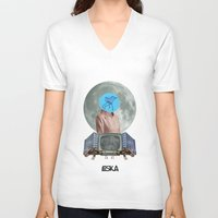 bubble V-neck T-shirts featuring Bubble by LOSKA