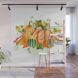 Pumpkin Bouquet Wall Mural