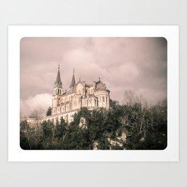 Basilica of Santa Maria la Real of Covadonga (retro) Art Print