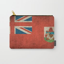 Old and Worn Distressed Vintage Flag of Bermuda Carry-All Pouch