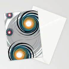 Spinning worlds Stationery Cards
