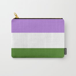 Genderqueer Pride Flag Carry-All Pouch