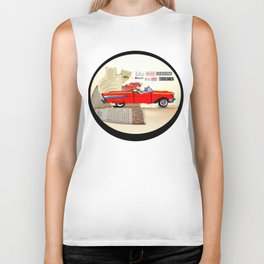 Red Riding Hood Hits the Road Biker Tank