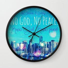 Know God Wall Clock