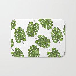 UrbanNesian Green Monstera Leaf Bath Mat