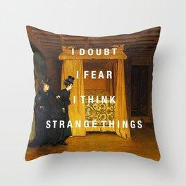 strange things Throw Pillow