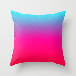 Blue purple and pink ombre flames Throw Pillow