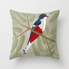 Tocororo Throw Pillow
