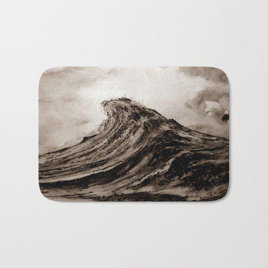 The WAVE - sepia Bath Mat