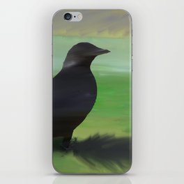 Crow and Feather iPhone Skin