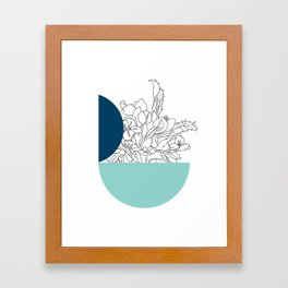 VESSEL - Floral Ink in Peacock & Mint - Cooper and Colleen Framed Art Print