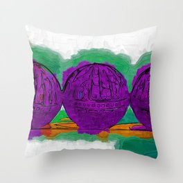 The Purple Balls Throw Pillow