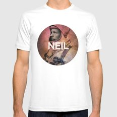 Neil. Mens Fitted Tee MEDIUM White