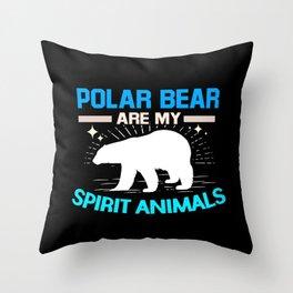 Polar Bear Spirit Animal White Bears North Pole Throw Pillow