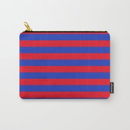 Blue and Red Stripes Carry-All Pouch