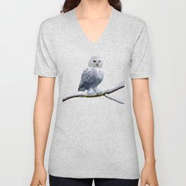 Blue-eyed Snow Owl Unisex V-Neck