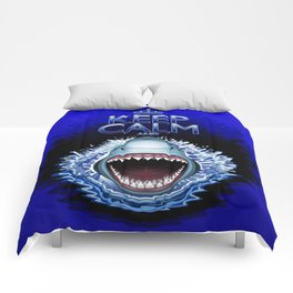 Keep Calm and...Shark Jaws Attack! Comforters