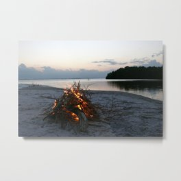 Lonely Fire Metal Print