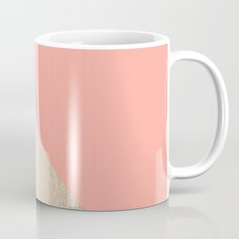 Simply Shadow in White Gold Sands on Salmon Pink Coffee Mug