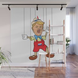 Donald Trump as Lying Pinocchio Puppet Wall Mural