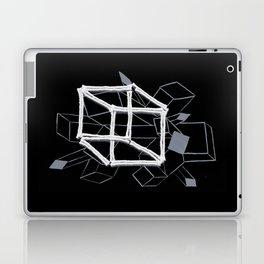 hypercube light gray Laptop & iPad Skin