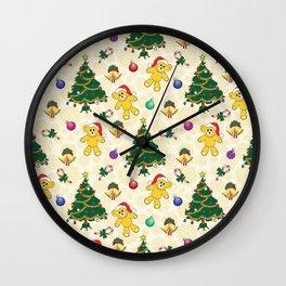 Christmas bear,bells and tree SB3 Wall Clock